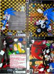 Video Game Covers: SEGA Sonic/Shadow by InkArtWriter