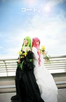 C.C and Euphemia - Code Geass by nyaomeimei
