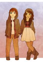 The twins - Autumn by Rakiah