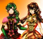 Valeyla's original characters colored by Rozen-Guarde