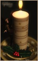 Holly Candle by Saidge42
