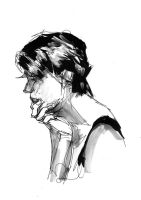 untitled (pensive) by zeruch
