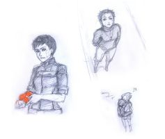 FemShep Sketches 2 by Mila-Valentine