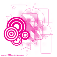 Retro Pink Background Vector by 123freevectors