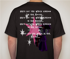 Follow The Equines Tshirt ( Back )) by TheBlackmanBrony