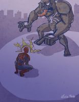 Spidey vs Venom Quickie by Spidersaiyan