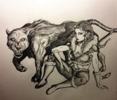 woman and beast by Ericsart5196