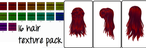 MMD 16 Hair Texture Pack by Icon-Comission