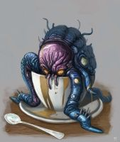 Coffee Cup monster by Trudsss