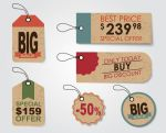 6 creative Sales discount  lables vector by FreeIconsdownload