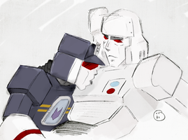 megatron x soundwave 3 by iiskaa