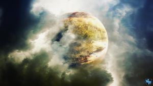 Planet among the clouds by Vreckovka