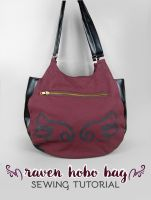 Sewing Tutorial - The Raven Hobo Bag by SewDesuNe