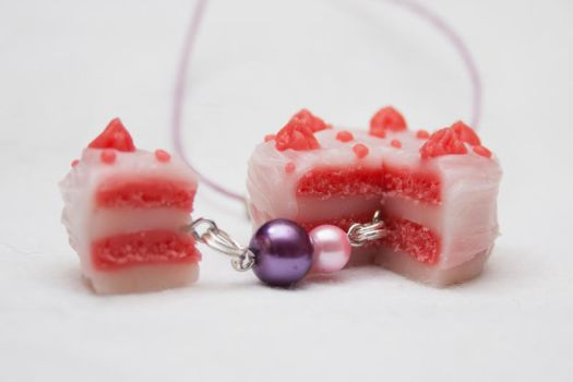 Polymer Clay Yet Another Cake Necklace by Tharanthiel