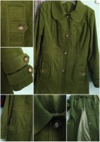 Moss Green Corduroy Coat by Adonenniel