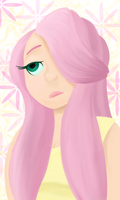 Fluttershy painting by Galactic-Bears