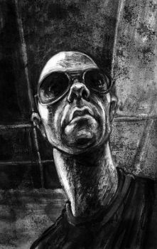 Selfportrait with dark glasses by gabrio76