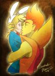 Fiona and Flame Prince Kiss by Free-man12