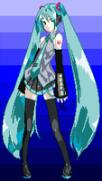 Pixel Miku by Dreams-of-Impact