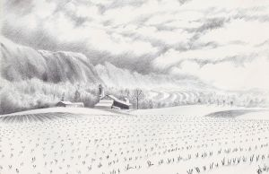 Countryside Fog Daily Doodle by mynti