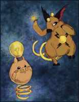 Electric Spoink and Grumpig
