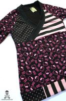 Hello Kitty Stripe Top 2 by smarmy-clothes