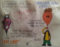 Balloon Head Fred and Lava Lamp by MadnessCriminal