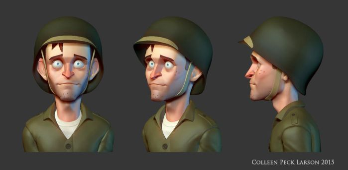 Private Pete 3D Bust by WieldstheKey