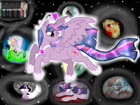 Princess Twilight's Lightly visits to Grim Worlds by KHough