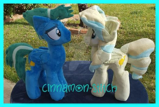 mlp plushie commissions SKY STINGER, VAPOR TRAIL by CINNAMON-STITCH