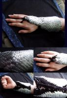Crocheted Scale Arm Warmers by Imbrium66