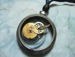 Time Travellers Clock Pendant by AmeliaGraceKeeley