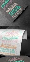 Christmas card typography 2015 by Lemongraphic