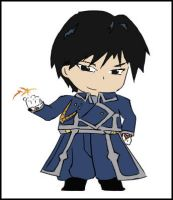Colored: Chibi Roy Mustang by manifest3r