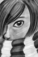 Scarf in Black and White by HarleyTheGreat