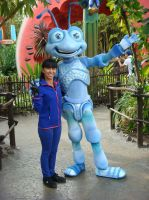Me and Flik at Disney Bug's Land photo 1 by Magic-Kristina-KW