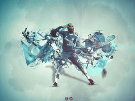 didier drogba - wallpaper ft SC by azh-zharku