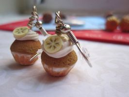 Banana Cupcake Earrings by CandyChick