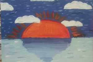 Painted Sunset by Gail7