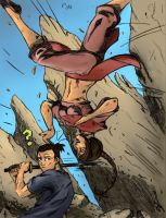 Sokka vs. Ty Lee coloured by kutyabengekereg