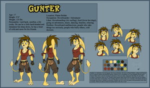 Gunther Ref Sheet +2013 by RatchetJak