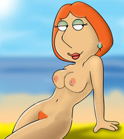 lois on the beach by ninja232