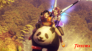 TBV - Ling, Alisa and Panda by Tekkenka