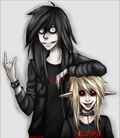 Jeff The Killer and Ben Drowned|Metal versions ? by NekoXemi