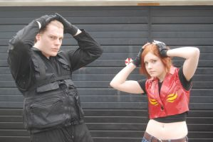 Claire and Chris being Wesker by KyotoSasaki