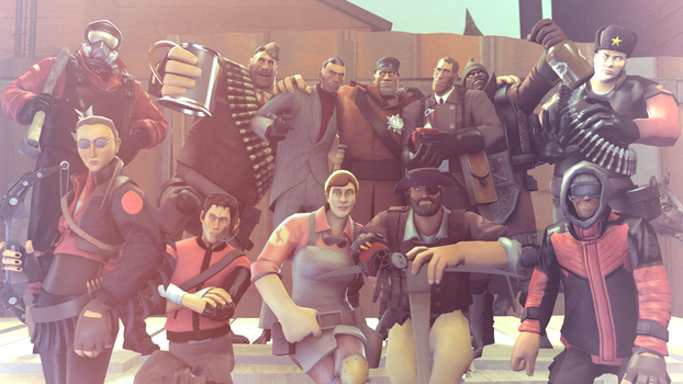 [SFM] All's Fair: Red Team by kungfubellydancer