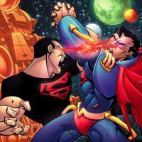 Superboy vs Card by greenestreet