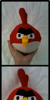 Angry Birds Plushie by Blubble-The-Blubs