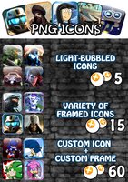 Point Commissions : PNG ICONS - Price list by Marxhog