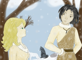Ronon and Davelyn Color by jacquelynfisher
